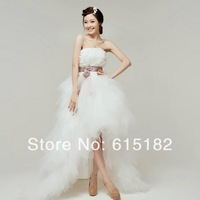 Irregular Prom Gown Bridesmaid Party Wedding Dress D713