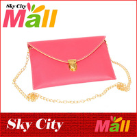 Hot Sale New 2013 Fashion Women Handbag Envelope Lady Clutches Bag PU Leather Handbag Messager Bag Pocket