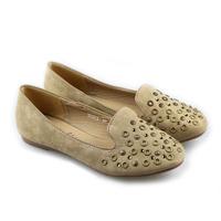 New 2014 Fashion  arrival flat metal rhinestone velvet casual single shoes round toe flat rivet women's shoes