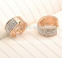18K Rose Gold earrings Fashion Jewellery 18K Women's jewelry Crystal earrings for women earrings Free shipping