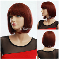 New Women Girls' Fashion Short Straight Wig BOBO Cosplay Party Full Wigs Hair