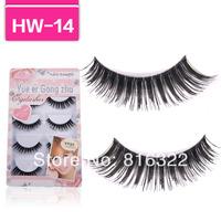 Handmade 5 Pair/Lot Thick Long False Eyelashes Fake Eye Lashes Voluminous HW14