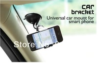 Universal Car Windshield Mount Holder Bracket For Samsung Galaxy Note 2 N7100 Galaxy S3 S4, Stand For HTC Smartphone