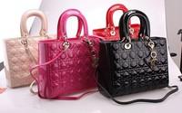 2014 high quality fashion more colors  Women handbags oblique satchel 6 color 2 size Messenger Bag