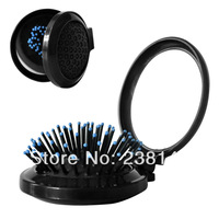 New Women's fashion m zone airbag comb air-sac folding makeup mirror comb suit  style roses round