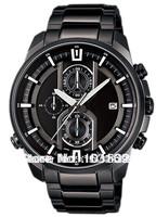 Free Shipping EFR-533BK-1AV Men's Chronograph Sport Date EFR-533BK Black Stainless Steel Blaxk Dial Watch EFR-533BK-1AV