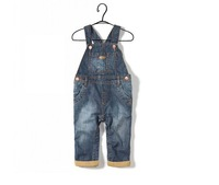 Baby jeans trousers Infant overalls Denims Unisex bottoms Long Jeans overalls 6-36month 5 pieces/lot Wholesale Free shipping