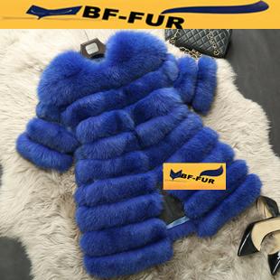 Натуральная лисий мех женщин пальто
