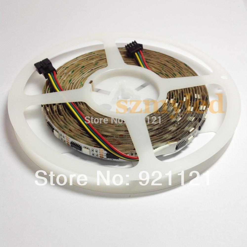 WS2801 60M 36leds/m ic led lights strip Digital rgb led strip ws2801 led pixel strip no waterproof led strip lights(China (Mainland))