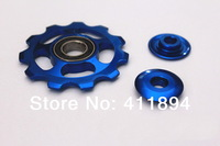 4 x Bearing Sealed Bike Bicycle Derailleur Jockey Pulley Wheel 11T Blue