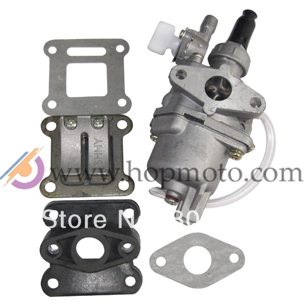 47cc 49cc carburetor reed valve mainfold kit for pocket bike mini atv dirt bike in carburetor