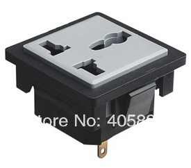 AC power universal socket,computer chassis external socket outlet(China (Mainland))