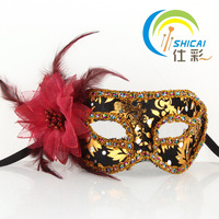 Christmas mask masquerade princess flower wrapped belle mask