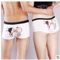 Free Shipping A130  men's women's cartoon cotton  lovers boxers men's waistline 73cm-87cm women's waistline 60cm-73cm