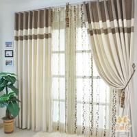 Cloth quality modern brief chenille curtain cut flower yarn