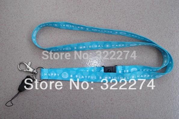 "custom cheap 5/8""blue Neck Strap lanyard ID Card/Cell Phone strap Badge Holder lanyard wholesale customized logo printing(China (Mainland))"