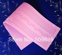 new sale Instant Lace Mold Lace Fondant Cupcake Decoration Mold Fondant Cake Tools/fondant lace mat (39.5*12cm)-free shipping
