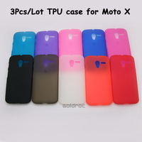 Wholesale 3Pcs/Lot High Quality Frosted TPU Protective Phone Case Cover Shell Skin for For Motorola Moto X Phone Free Shipping