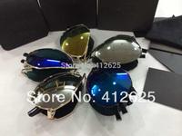 HOT Portable Men's Folding Sunglasses Metal Frame Foldable Eyewear freeshipping
