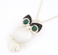 Min.order $10(Mix Item) SPX4214  New 2014 Fashion Collar Chunk Long Owl Chain Necklaces & Pendants Free Shipping
