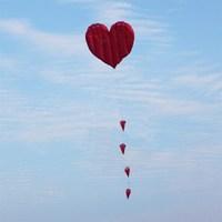 Weifang kite rambled of hearts of love of bundless kite chinese heart kevlar