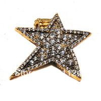 Hot Fashion Design Antique Rhinestone Five-pointed Star Alloy Stretch Finger Ring