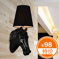 Gangnam wall lamp modern stair personality bedroom bedside lamp american lighting