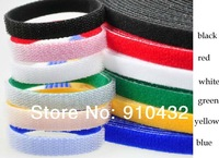 25M/roll 10MM width Polyester Nylon Strap Power Wire Management Back to Back Velcro Cable Ties 6 Color  high quality