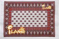 "Wholesale iland Dollhouse Miniature Emboidered Carpet 6""x4"" Stripe 50PCS  #OR304"
