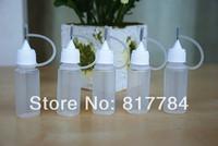 10 ml Plastic Refillable Dropper Bottles With Needle Caps Safe Tips LDPE For E Cig Vapor Vape Liquid Soldering Flux Ink