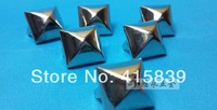 free shipping 1000pcs16*16mm Pyramid arch shape silver metal rivets DIY studs for handbag/ Leather /Clothes/Belt