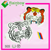 free shipping tiger painting mask toy for kids 100% safe