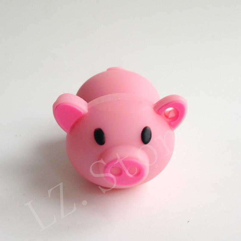Bulk pen drive cartoon rose pig animal gift 4gb 8gb 16gb 32gb 64gb pet pig usb flash drive pendrive free shipping(China (Mainland))