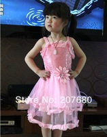 Sunflower Princess Dress Kids stage costumes Fancy dress decoration with sequined flowers Children's performance clothing