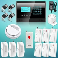 Free Shipping ! Touch Keypad Wireless GSM SMS Autodial Smart Home House Security Burglar Alarm System  Emergency Panic Button