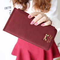 2014 Fashion high quality  bow scrub multifunctional women's long design wallet card holder handbag purse