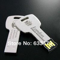 custom your logo quality Metal Key USB flash  Drive for promotion 4GB 8GB 16GB 32GB 64GB 2.0 pen drive wholesale memory sticks