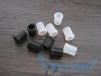 Rubber Tobacco Smoking Pipe Tip Grips, Mouthpiece bites -- black & white, 2 sizes to choose 300pcs/lot, Free-shipping