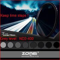 58mm DSLR camera HD Ultra slim Fader ND2-400 adjustable grey density filter for Nikon Sony Canon fujifilm Pansonic OlympusPentax