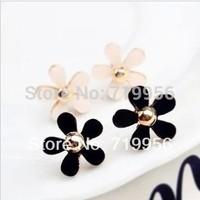 Fashion lady women jewelry elegant small fresh daisy alloy stud earring female ER473