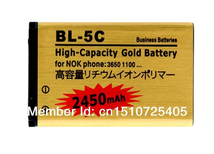 Business Battery 2450mAh BL-5C For Nokia C2-06 C2-00 X2-01 1100 6600 6230 BL 5C Batterie Batterij Bateria AKKU Accumulator PIL