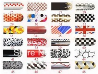 12sheet/lot hot sale nail stickers high quality nail art stickers metallic nail foil stickers beauty nail decorations color25-48
