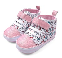 Baby Hello Kitty High-top Sneakers Toddlers Girl Cute Cartoon Shoes Fashion Soft Sole First Walkers Drop Free Shipping Wholesale