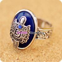 Freeshipping wholesale Vampire Diary Damon Finger stone Ring letter engraved Retro Punk Ring stefan ring