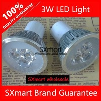 Wholesale GU10 3W 220V LED Spotlight Bulb Warm White Cool White LED celling Light 5pcs/lot Free Shipping