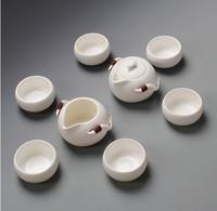 Free Shipping, Hot Selling, 8pieces/lot  High Quality Drinkware , Kung Fu Tea set Tea Kettle  Ceramic Tea Set Porcelain Tea Set