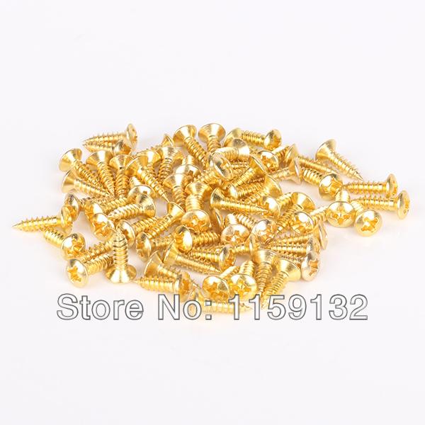 500* Gold Pickguard Mounting Screws Scratch Plate Screws for Strat Tele Guitar(China (Mainland))