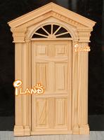 Wholesale iland 1:12 Dollhouse Miniature Luxury Wooden White Exterior Door 20PCS OA011K