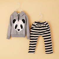 Children's clothing child set spring new arrival child sweatshirt harem pants cartoon twinset