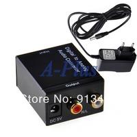 Digital to analog Converters Audio Converter Digital Optical Coaxial RCA Toslink to Analog Audio Converter Adapter EU 19030